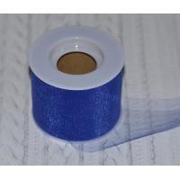 Фатин средней жесткости (ширина 5 см), цвет - синий
