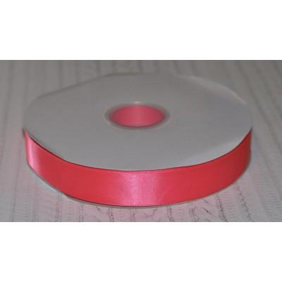 Лента атласная 25 мм ярко-розовая Элитная Premium