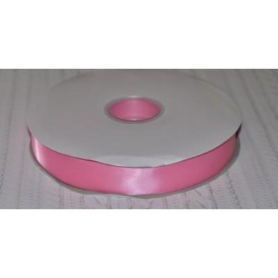 Лента атласная 25 мм розовая Элитная Premium