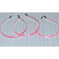 Ободок-основа (металл+ткань), 7 мм, цвет - ярко-розовый