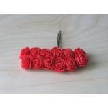 Розочки из фоамирана 20 мм, на проволоке, цвет-красный
