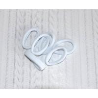 Резинки бесшовные для волос 50 мм, белые