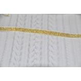 Резинка декоративная с люрексом, ширина - 1 см, золото