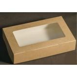 Коробка из крафт-картона с окном 12х20х4 см