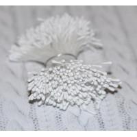 Тычинки матовые белые 2 мм