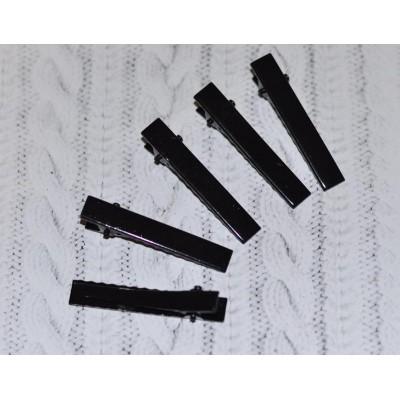 Заколка-основа 4 см чёрная
