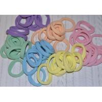 Резинки бесшовные для волос 45 мм широкие цветные