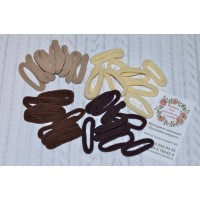 Резинки для волос 4 см коричневые