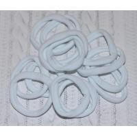 Резинки бесшовные для волос 40 мм, белые широкие