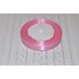 Лента атласная 12 мм розовая, катушка - 22,8 м