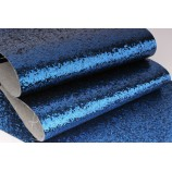 Декоративный материал кожзам с крупными блестками синий