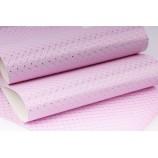 Декоративный материал кожзам Ромб светло-розовый