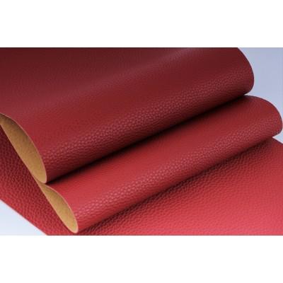 Декоративный материал кожзам Классик красный