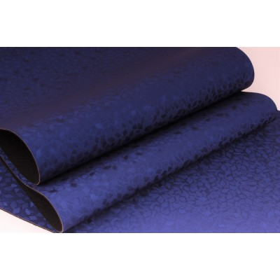 Декоративный материал кожзам Винтаж синий
