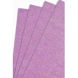 Глиттерный фоамиран 20х30 см, толщина 2 мм, цвет - светло-фиолетовый