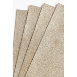 Глиттерный фоамиран 20х30 см, толщина 2 мм, цвет - светло-коричневый