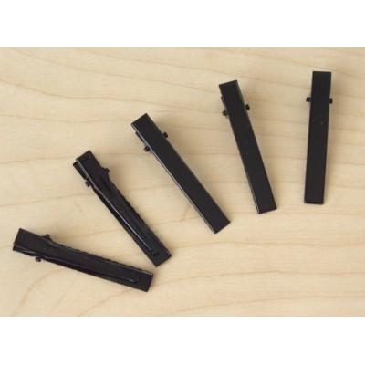Заколка-основа 5,5 см, цвет - черный