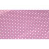 Фоамиран 20х30 см в горошек, толщина 2 мм, розовый