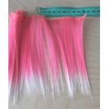 Волосы-тресс прямые длина 15 см, ширина 10 см, ярко-розовый