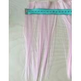 Волосы-тресс прямые длина 25 см, ширина 10 см, светло-розовый