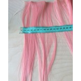 Волосы-тресс прямые длина 25 см, ширина 10 см, коралловый
