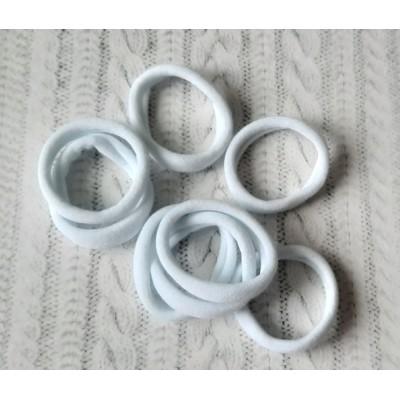 Резинки бесшовные для волос 40 мм белые узкие