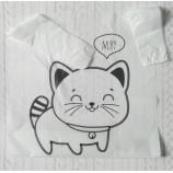 "Пакет майка белый ""Кот"" 28х45 см"