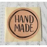 Наклейка Hand made диаметр 4 см