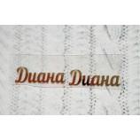 Термотрансферная наклейка Диана золото глянец 30х9 мм