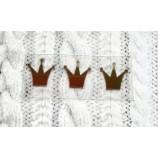 Термотрансферная наклейка Корона золото глянец 14х12 мм