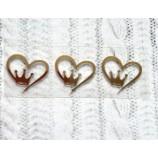 Термотрансферная наклейка Корона в сердце золото глянец 23х21 мм