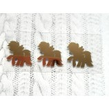 Термотрансферная наклейка Пони 1 золото глянец 25х25 мм