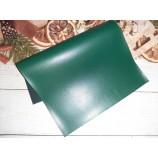 Декоративный материал кожзам матовый темно-зеленый