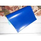 Декоративный материал кожзам синий