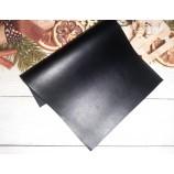 Декоративный материал кожзам матовый черный