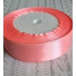 Лента атласная 25 мм персиково-розовая катушка 22,8 м