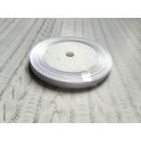 Лента атласная 6 мм цвет белый
