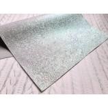 Декоративный материал кожзам серый с перламутровыми блёстками