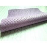 Декоративный материал кожзам сиреневый текстурный Плюсики