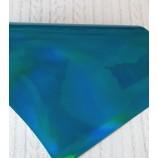 Декоративный материал кожзам Зеркальный бирюзовый