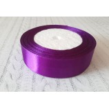 Лента атласная 25 мм темно-фиолетовая катушка 22,8 м