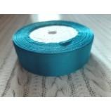 Лента атласная 25 мм голубой катушка 22,8 м