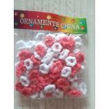 ***Резинки для волос 25 мм 100 шт (+/-5) розовый/белый