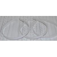 Ободок-основа, 10 мм, белый
