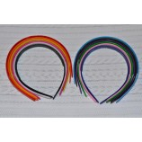 Ободок-основа, пластик, разные цвета (ширина - 1,3 см)