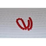 Бусина стеклянная круглая 10 мм, цвет - красный
