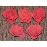Розы из фоамирана 7 см (головки), красные