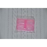 Мини-контейнер 6,4х4,4х1,8 см, розовый