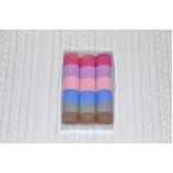 Набор бесшовных резинок для волос 30 мм, цветные (66 шт)